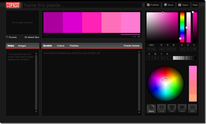 COPASO-Pro Color Palette Software from COLOURlovers