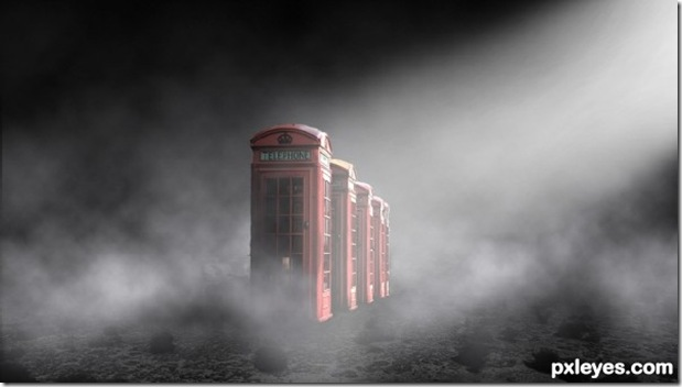 surreal phone booths photoshop tutorial