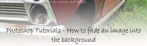Photoshop Tutorials CS4-CS5: How to fade an image into the background