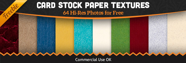 Free Paper Texture Pack: 64 Card Stock Photos