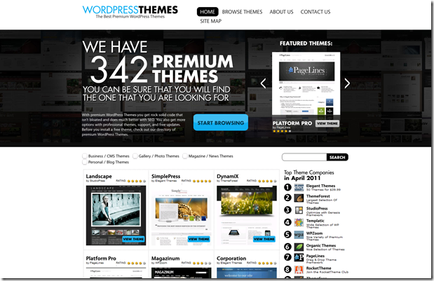 Best place to find Premium WordPress Themes