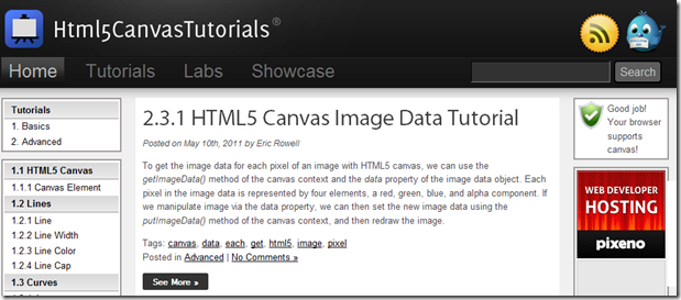 HTML5 Canvas Tutorials