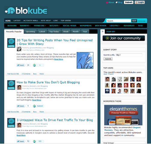 Generate Traffic and Build Your Social Network with Blokube Social Bookmarking
