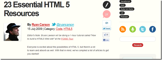 Unleash HTML5 - Guides and Rouces
