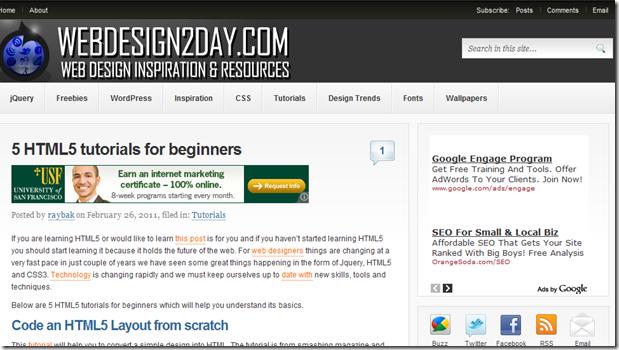 HTML5 Tutorials