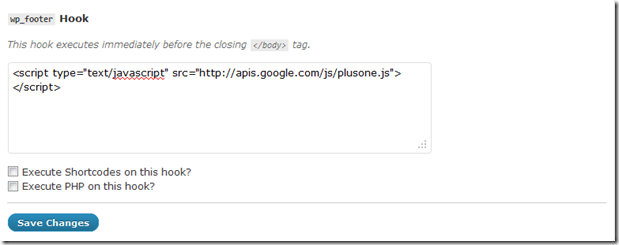 Maunally Add Google +1 button to your wordpress site.