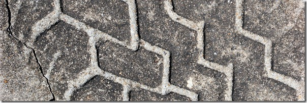 high quality concrete texture with tire print
