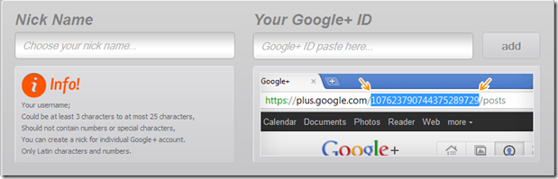 gplus.to offers vanity URLs for Google Plus