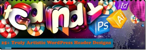 Intense banner/header for a design site