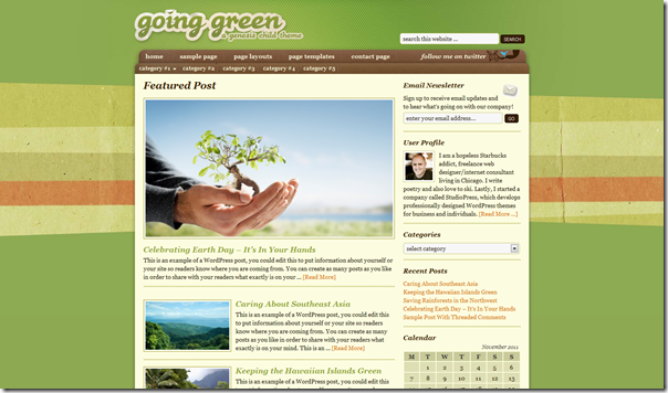 going-green-studiopress-theme