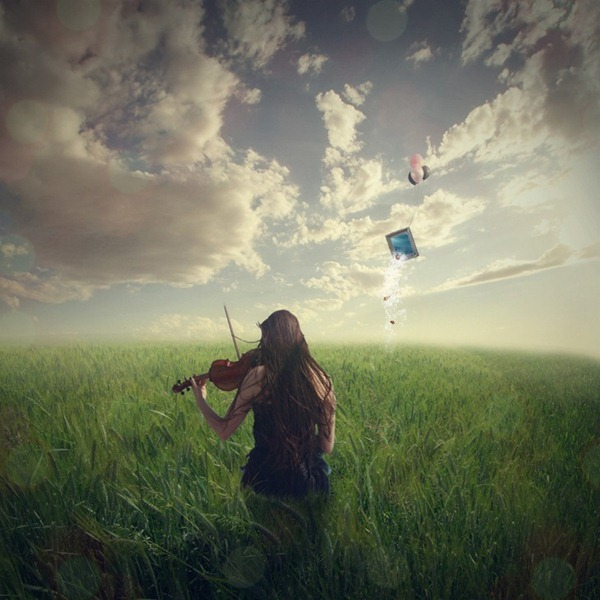 How to Create a Violin Player in a Grassy Landscape