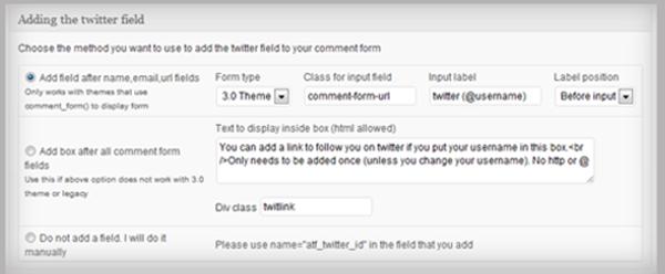TwitterLink Premium - Automatically Change Comment Form