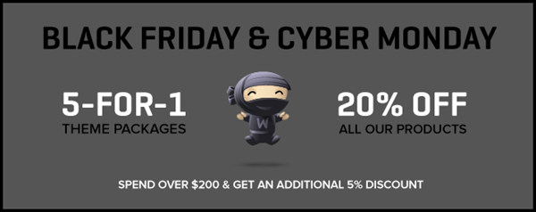 Black Friday & Cyber Monday Deals for WordPress and Design Resources