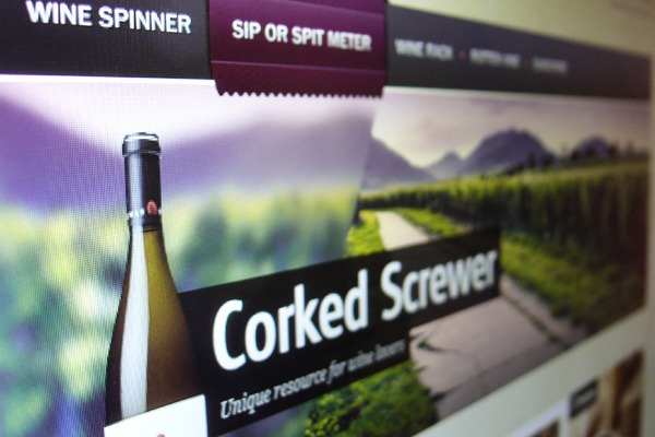 Corked Screwer–Free Website PSD Template for Wine Enthusiasts