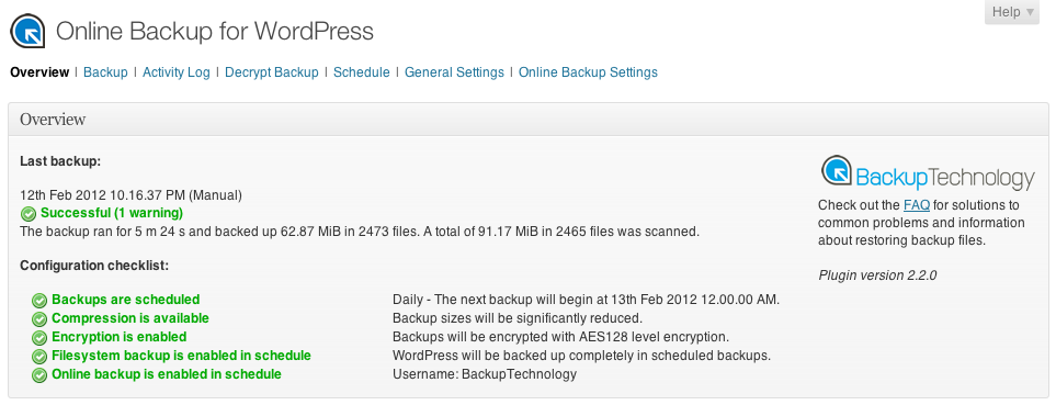 The Best WordPress Backup Plugins of 2012