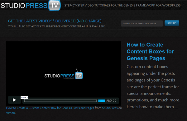 9 Videos to Help You Get Started With Studiopress