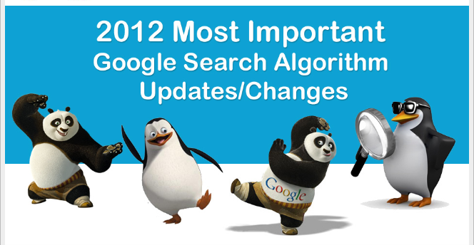 The Most Important Google Search Algorithm Updates in 2012 [INFOGRAPHIC]