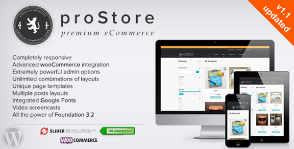 Prostore - eCommerce WordPress Theme