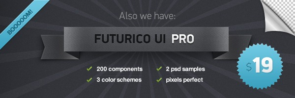 Futurico UI – User Interface Elements Pack