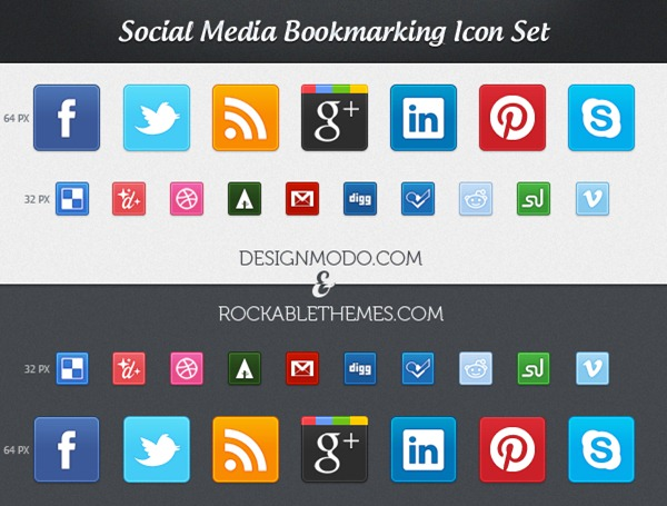 Sociality – Premium Social Media Icon Set (CSS3 & PNG)