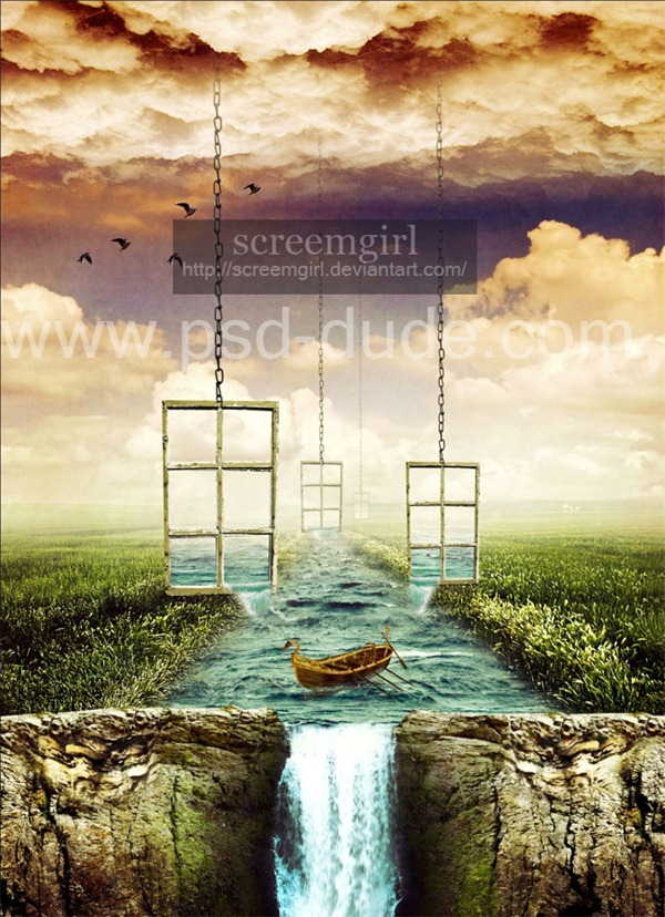 surreal-window-waterfall-photoshop