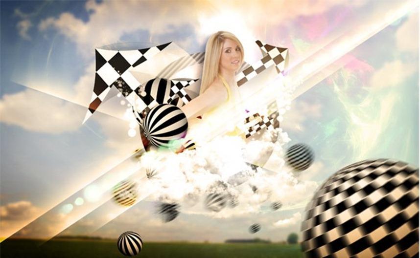 Create a Retro and Futuristic Design in Photoshop