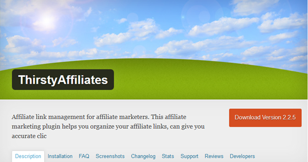 Introducing ThirstyAffiliates, a Link Cloaking WordPress Plugin