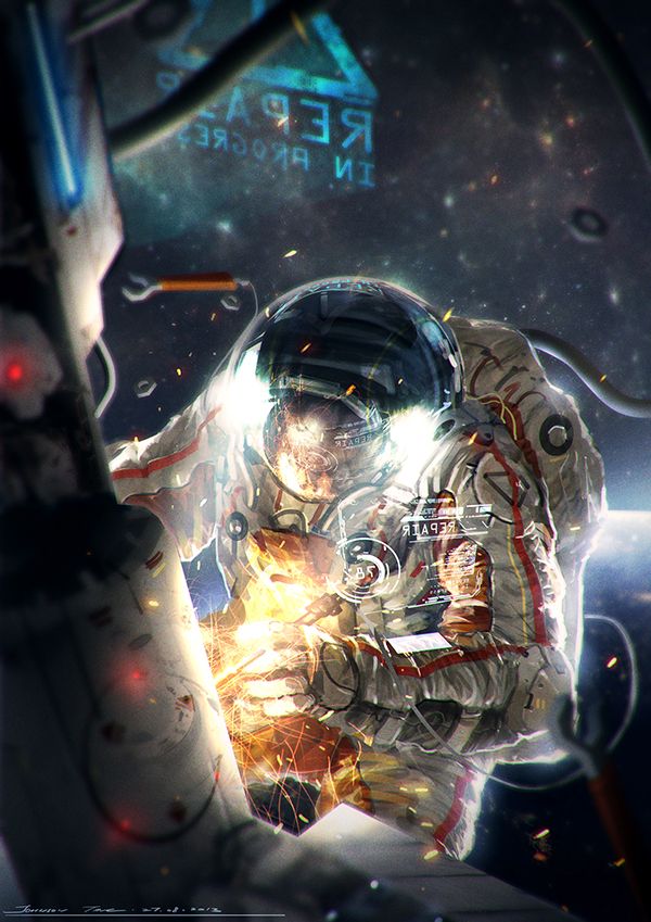 How to Illustrate an Astronaut in Photoshop