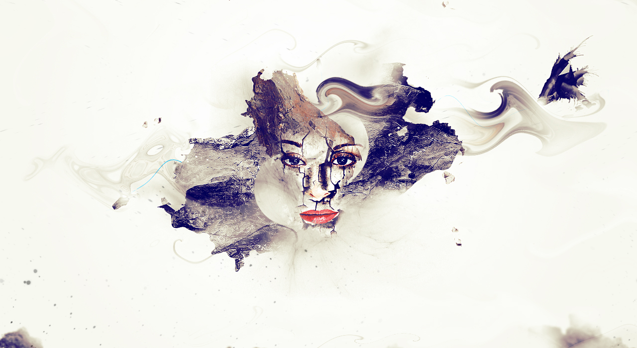 12 of the best photoshop tutorials created in september artistic photo manipulation with cracked face effect in photoshop baditri Choice Image