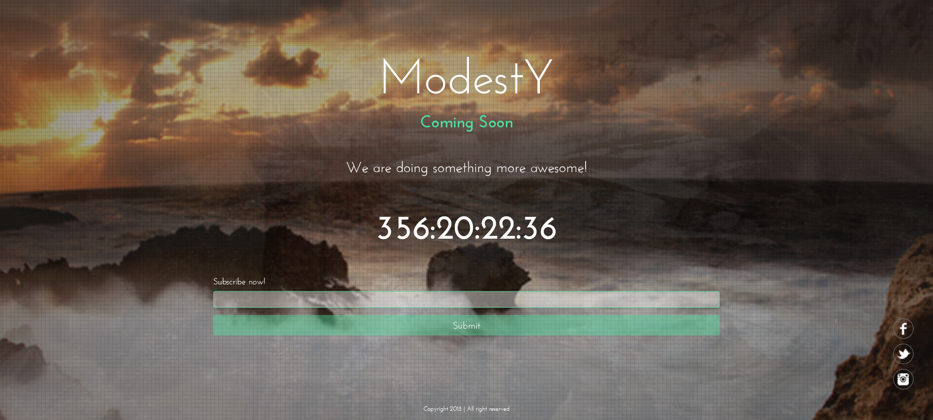 ModestY – Responsive Coming Soon Page