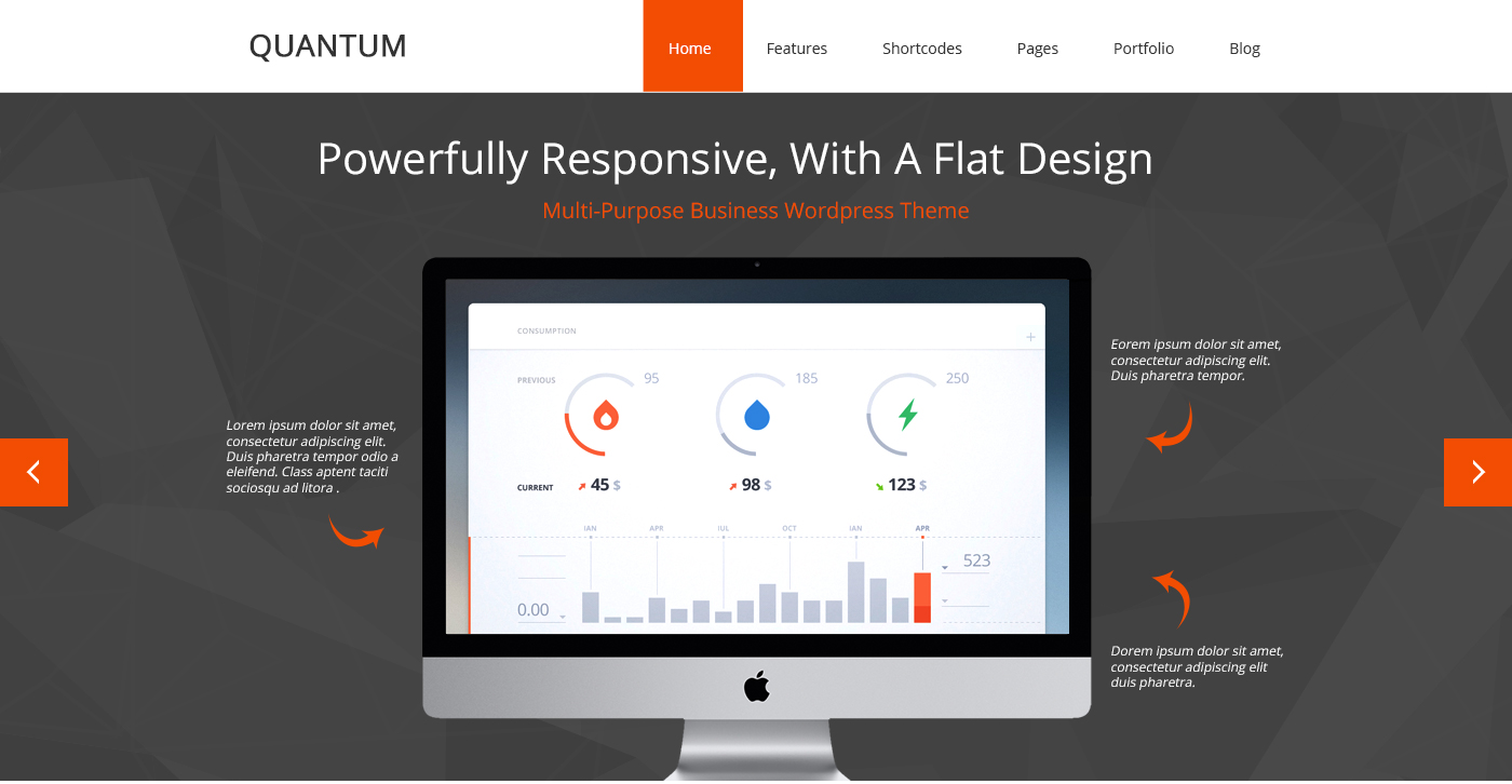 Quantum – One Page PSD Theme