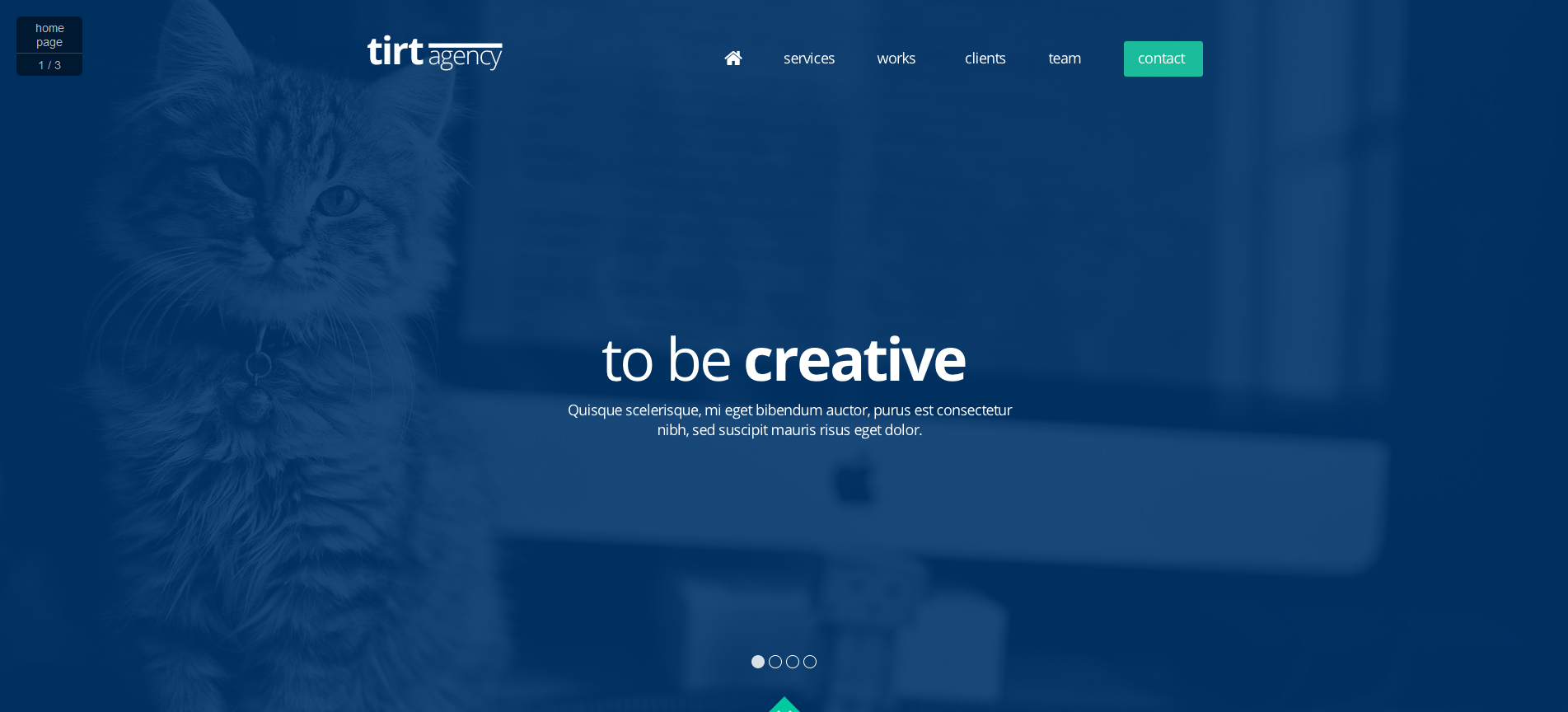 tirtAgency – One Page PSD Template