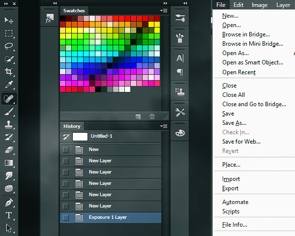 BASICS OF PHOTOSHOP TOOLBAR, PANES AND MENUS