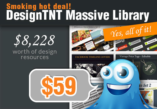 DesignTNT Massive Library & 630 Premium Vector Illustrations worth $8,228 – Just $59