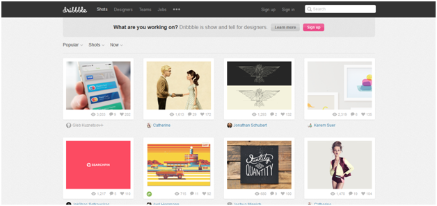 Dribble - What are your 'Go-To' Sources for Web Design Inspiration?