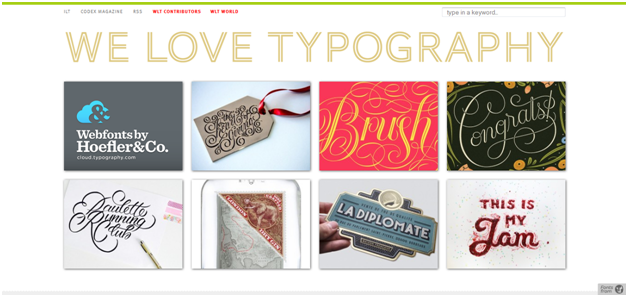 We Love Typography - What are your 'Go-To' Sources for Web Design Inspiration?