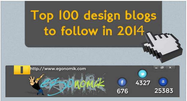Top 100 Design Blogs To Follow In 2014 – Infographic