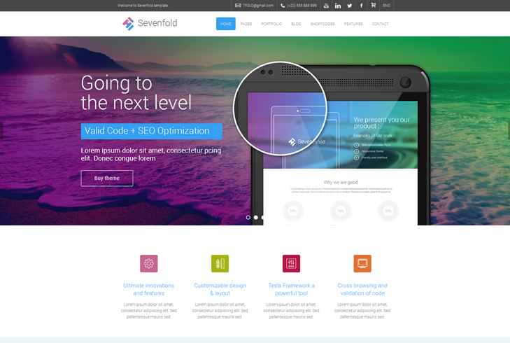 Sevenfold – Multipurpose WordPress Theme by TelsaThemes