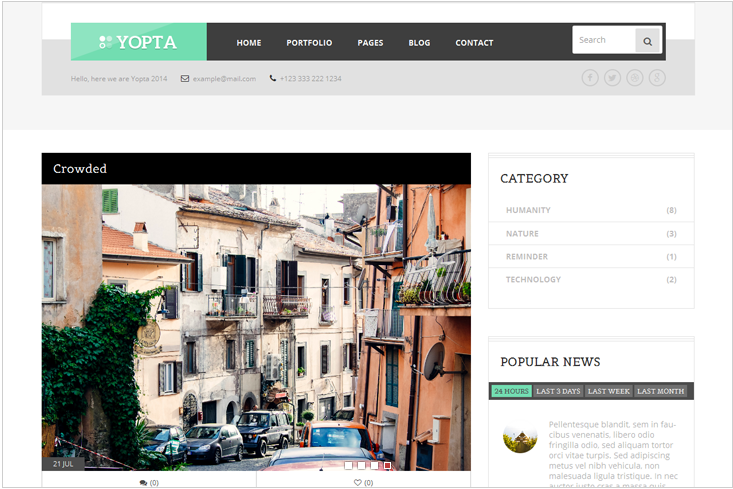 Yopta - Premium WordPress Theme by TeslaThemes