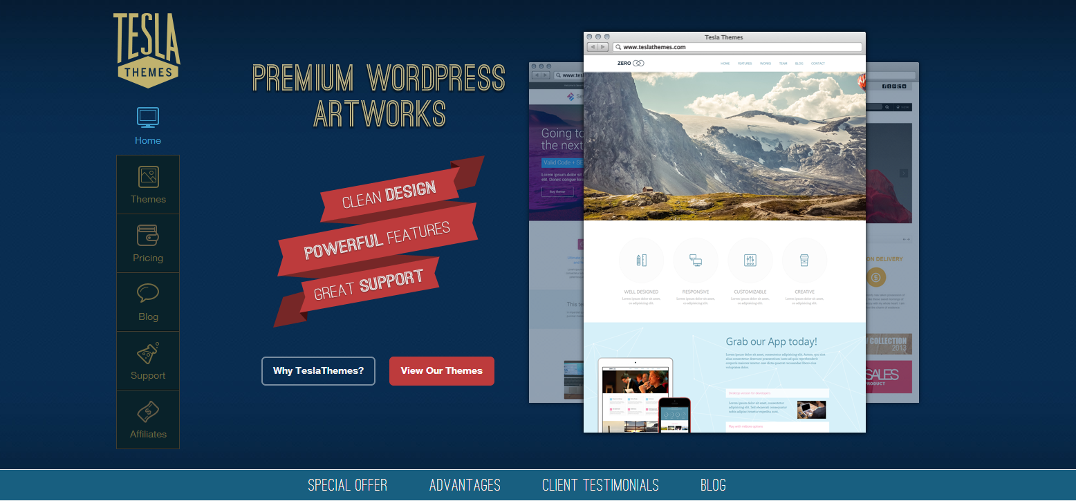 5 New Premium WordPress Themes from TeslaThemes