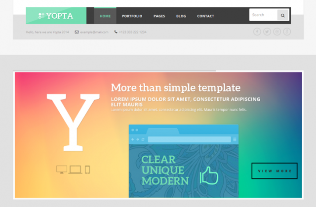 YOPTA : A New Premium WordPress Theme from TeslaThemes