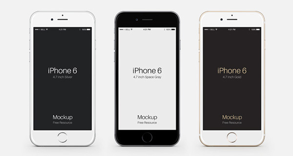 iPhone 6 & 6 Plus Psd Vector Mockup