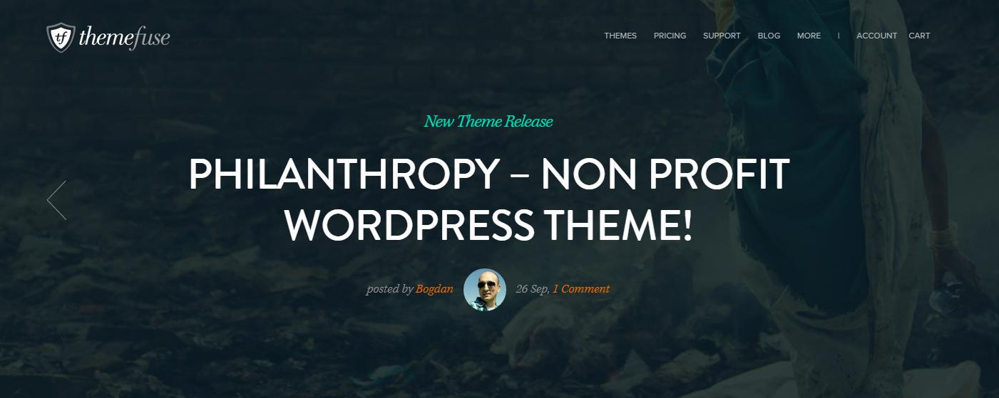 PHILANTHROPY: A Nonprofit WordPress Theme