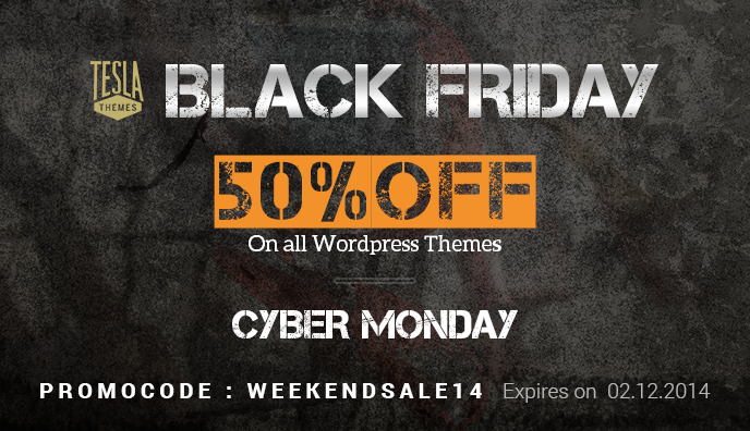 TelsaThemes Black Friday and Cyber Monday Fire Sale