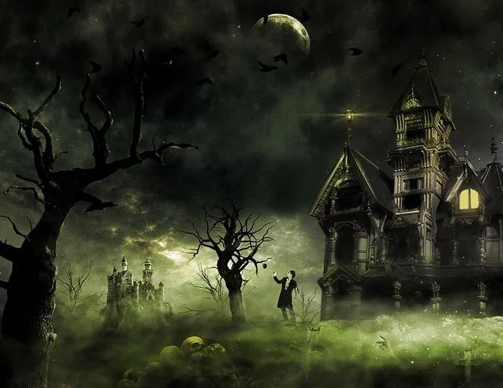 Create This Eerie Haunted House Scene for Halloween