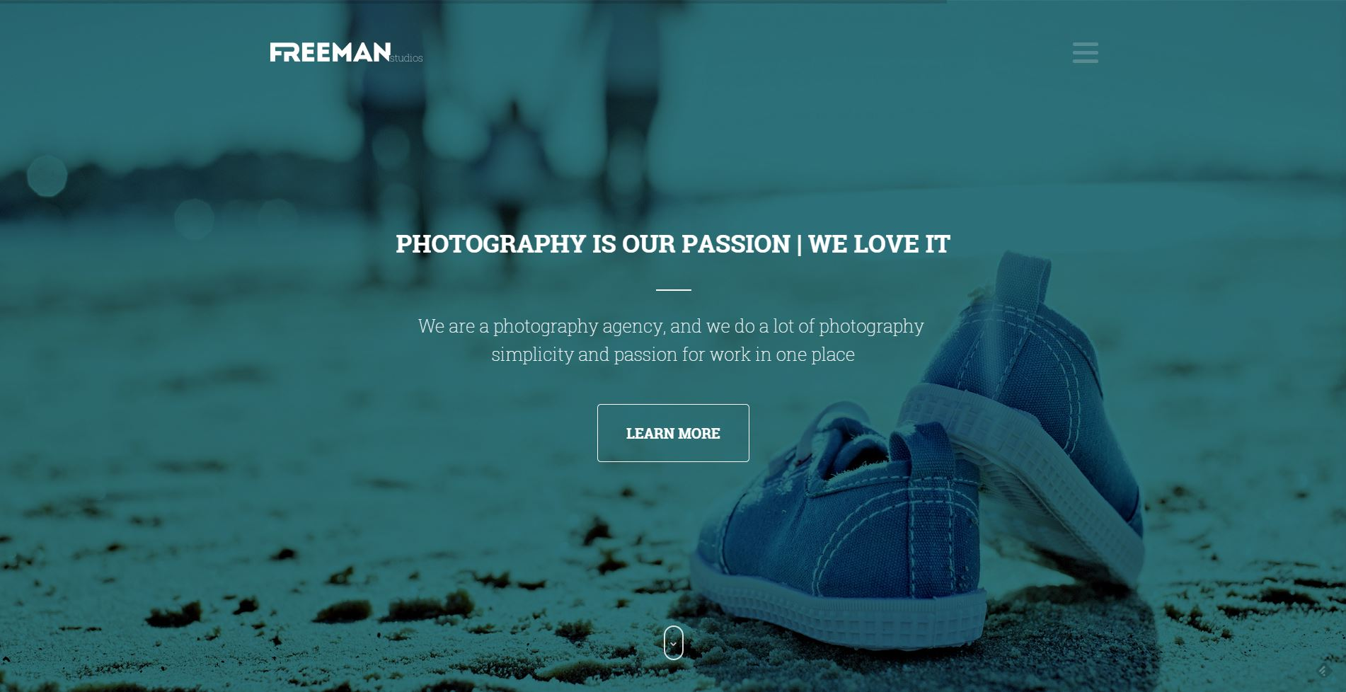 Freeman - Responsive One Page WordPress Theme