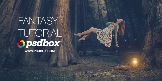 Fantasy Photoshop Tutorial – Floating Lady