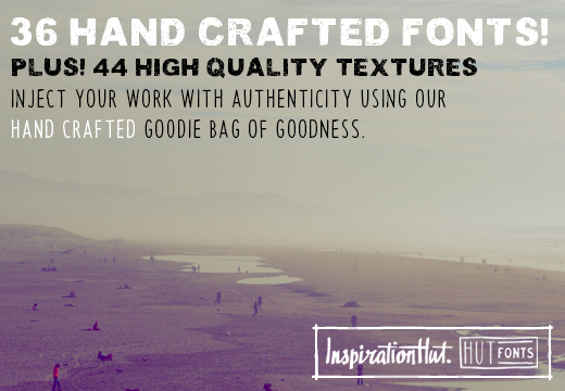 InspirationHut Bundle: 36 Hand-Crafted Premium Fonts & 44 High-Res Textures – Just $49