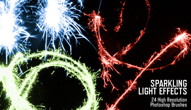 "Free Photoshop Brushes: ""Sparkling Light Effects"""