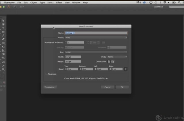 Adobe Illustrator Beginner Tutorials: How To Create a New Documents